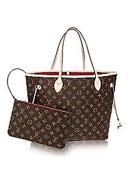 Authentic Louis Vuitton Neverfull MM Monogram Canvas Cherry Handbag Article:M41177