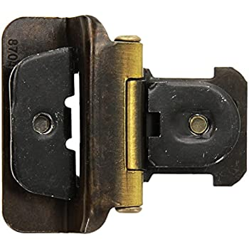 Amerock CMR8704AE Double Demountable Hinge With 1/2in(13mm) Overlay    Antique Brass