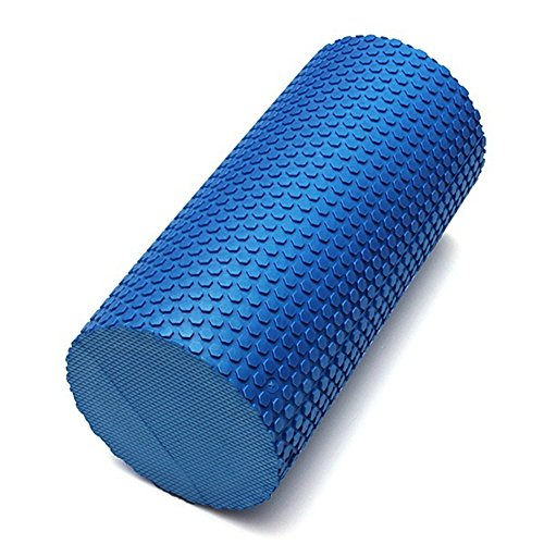 Ocaler 30x14.5cm EVA Yoga Pilates Fitness Foam Roller Massage Trigger Point Blue/Black (blue)