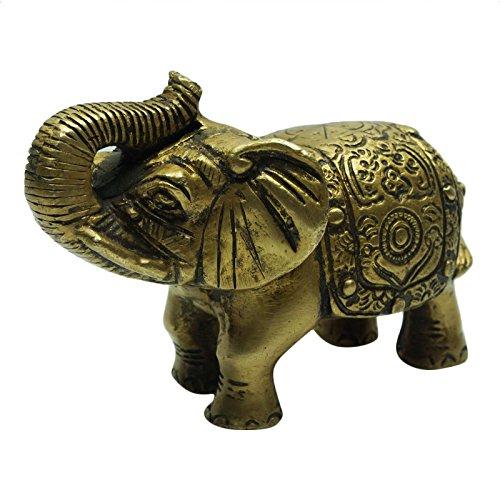 Decorated Brass Elephant - 8