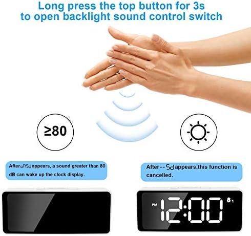 WTY Réveil numérique, Horloge de Bureau à luminosité