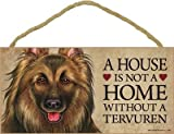 (SJT63906) A house is not a home without a (Belgian) Tervuren wood sign plaque 5