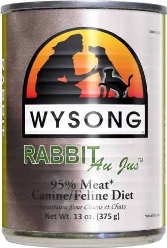 Wysong Au Jus Rabbit Case Dog and Cat Food Cans, 13.2-Ounce, My Pet Supplies