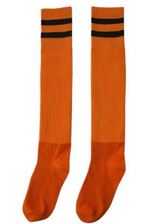 Smile YKK Men Women Classic Stripe Cotton Stetch Long Sport Soccer Sockings