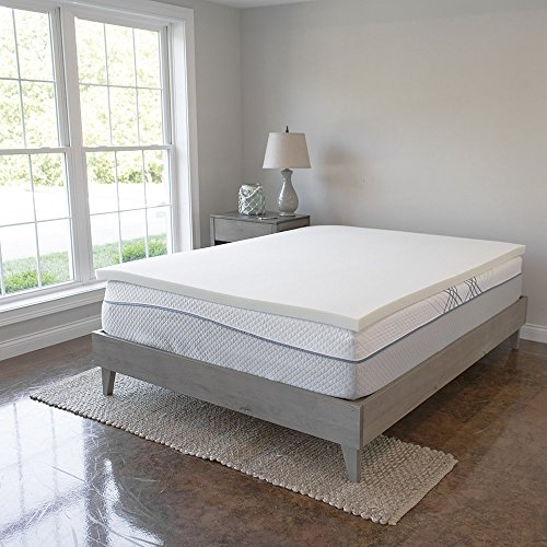 Memory Foam Mattress Topper - 2 Inches of 100% Real Visco Elastic Foam | 3 lb density for High Support and High Response | Made in USA | CertiPUR-US Certified, Queen Visco Plush Mattress