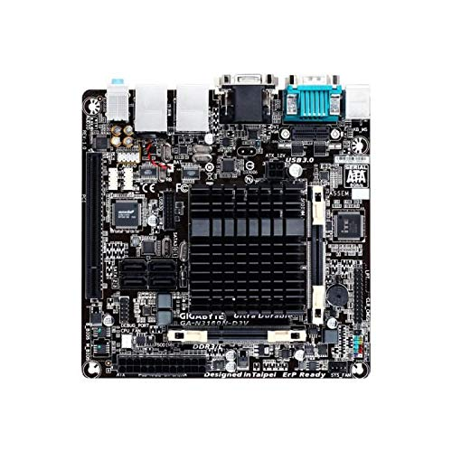 GIGABYTE N3160N-D3V, INTEL, N3160, INTEL SOC, 2DDR3,8 GB, VGA+DVI, 2GBLAN, 4SATA3, 4USB3, MITX
