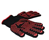 Extreme Heat Resistant Grill Mitt Gloves Oven Gloves Heat Resistant Cooking Gloves and BBQ Gloves 1 Pair of bbq Grill Gloves Barbecue Tools Blacksmith Welding Oven Mitt Campfire Accessories Fireplace