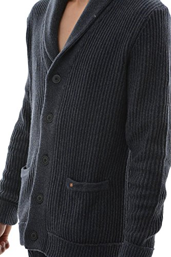 pull hiver Jack And Jones jack knit cardigan bleu