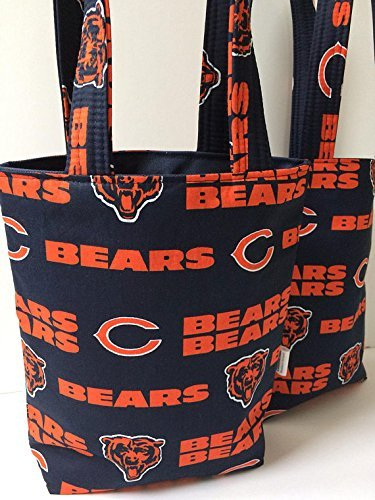 Men's Tote Bag, Chicago Bears Gift Bag, Chicago Bears Tote Bag, Hostess Gift Bag, Boys Birthday Party, Chicago Bears Fan, Gift for Boy, Gathers Day Gift, Mothers Day Gift Bag