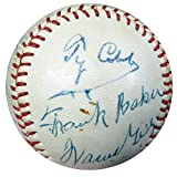 Baseball Greats Signed Baseball With 9 Signatures Including Ty Cobb, Frank Home Run Baker, Joe DiMaggio & Gabby Hartnett - Certified Genuine Autograph By PSA/DNA - Baseball Collectible