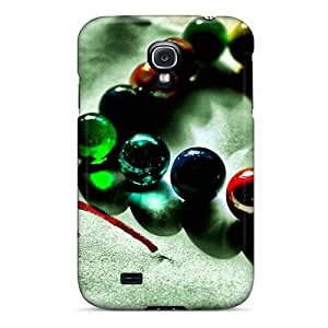 Anti-scratch And Shatterproof Love Heart Shaped Colored Glass Beads Phone Case For Galaxy S4/ High Quality Tpu Case