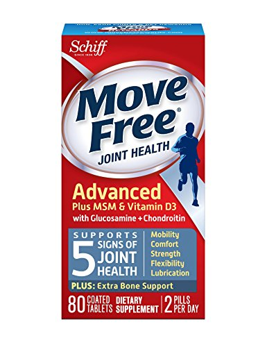 Glucosamine Plus Vitamin - Move Free Advanced Plus MSM and Vitamin D3, 80 tablets - Joint Health Supplement with Glucosamine and  Chondroitin