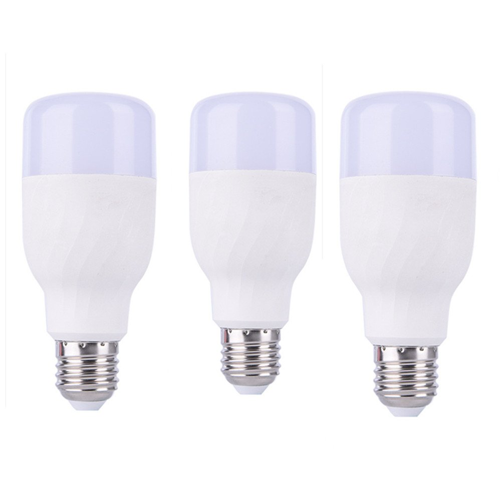 YUNGUANG WiFi Smart Lampe Licht APP Voice Fernbedienung Dimmable Lampe RGBW Smart LED 7 Watt Glühbirnen Schlafzimmer Studie Bürobeleuchtung (Farbe   3 Lights, Größe   E27)
