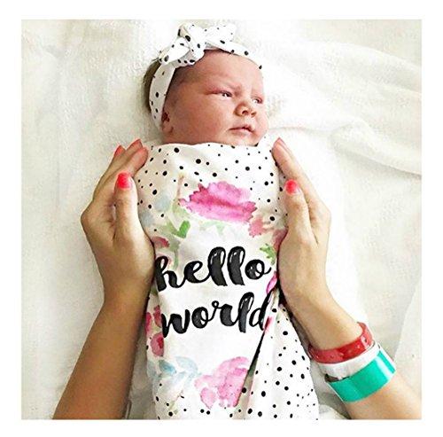 Hello World Photo Prop Receiving Blanket for Girls