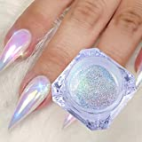 1 Box Holographic Nail Glitter Powder Rainbow Color Neon Effect Nail Art Flakes Decoration Chrome Nail Dust Tip Manicure
