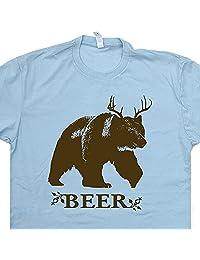 Bear Deer Beer T Shirt Antlers Strange Brew Tee Shirts Funny Shirtmandude