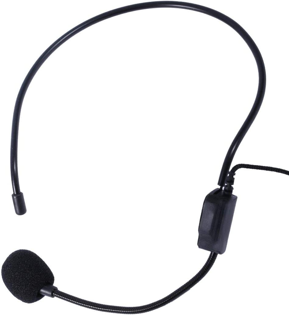 Noir Microfono professionnel avec microphone filaire pour premier haut-parleur avec jack 3,5 mm