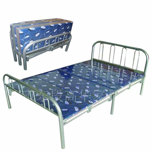 Butterfly Cot - Home Source Industries Butterfly Metal Folding Twin Bed with Padding, Silver