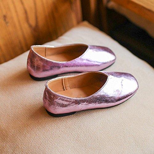 TPulling Mode Junge Und Mädchen Herbst Und Frühling Flache Schuhschuhe Der Kleinen Schuhe Der Mädchen Weichen Beiläufige Schuhe Prinzessin Beschuht Einzelne Schuhe Lässige Schuhe Pink
