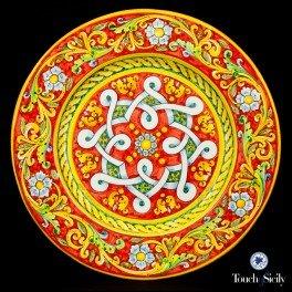 Touch of Sicily Italian Handmade Ceramic Decorative Plate Red Plate.  sc 1 st  Amazon.com & Amazon.com: Touch of Sicily Italian Handmade Ceramic Decorative ...