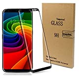 Kingxbar Galaxy S8 Protector Tempered Glass for Samsung Gs8 3D Curved Edge - Black Ultra Clear