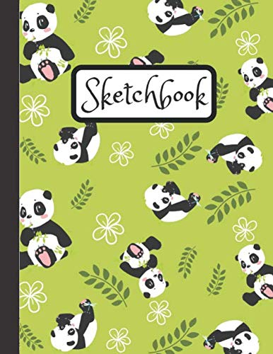 - Sketchbook: Inspirational Large Blank Sketch Book Baby Panda With Bamboo For Sketching,Doodling And Drawing, Sketch Pad For Kids And Adults