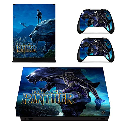 (Adventure Games - XBOX ONE X - Black Panther - Vinyl Console Skin Decal Sticker + 2 Controller Skins)