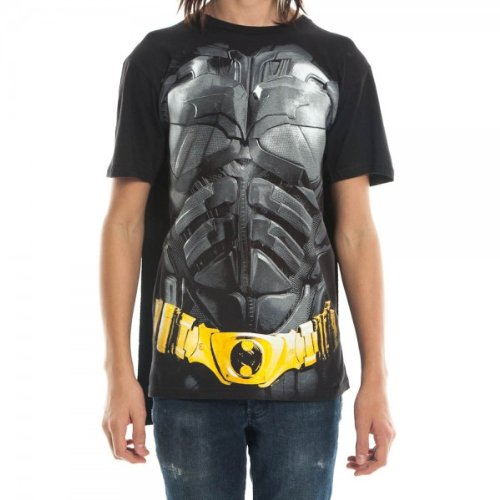 Dark Knight Batman Mens Black Cape Tee (Small) (Batman Black Knight Rises)