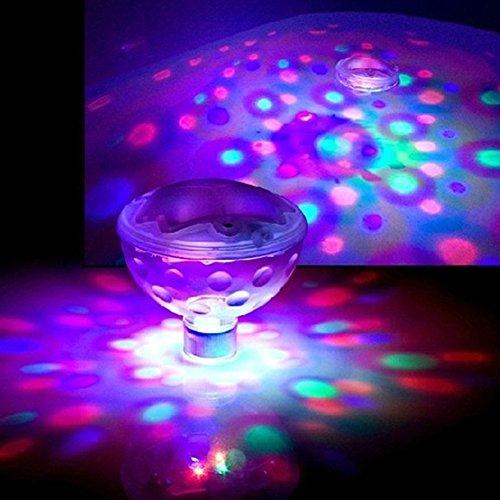 Aqua Glow Floating - MEIBY Floating Underwater LED Bath, Spa, Pool Disco Light LED Disco Aqua Glow Light