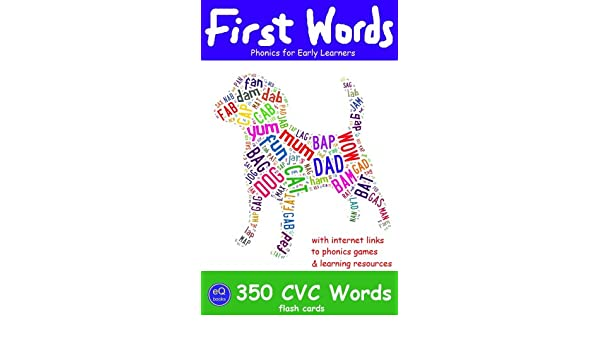 Amazon.com: First Words: 350 CVC Words [Flash Cards for Phonics ...