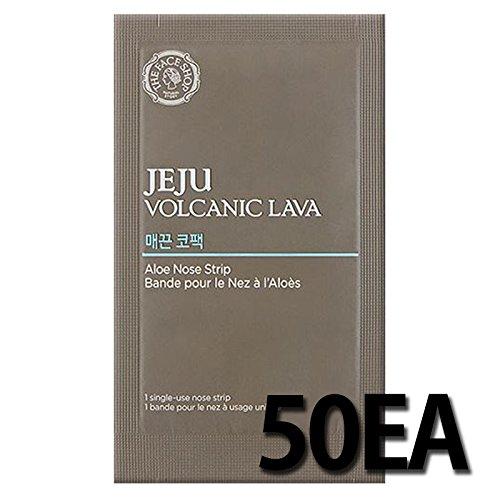 50EA THE FACE SHOP Jeju Volcanic Lava Aloe Nose Strip by The Face Shop