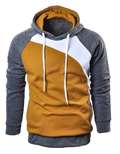 Mooncolour Men's Casual Pullover Long Sleeve Hoodies Outwear