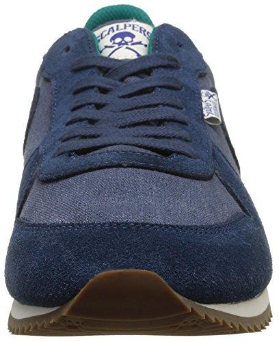 Scalpers Skull Insignia 02 - Zapatillas para Hombre, Color Azul, Talla 44: Amazon.es: Zapatos y complementos