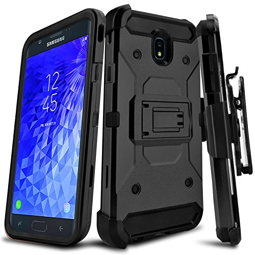 Leptech Kickstand Series Compatible with Galaxy J7 Refine/Galaxy J7 Star/J7 2018 (USA) SM-J737/Galaxy J7 Aero J737V/Galaxy J7 Aura Case (Black)