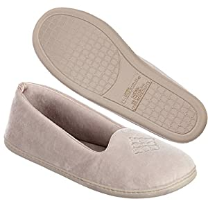 Velour Closed Back Slipper