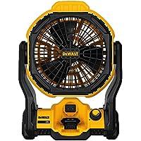 "Dewalt DCE511B 11"" Corded/Cordless Jobsite Fan + Dewalt DCB203F 20V Compact XR Lithium Ion Battery"