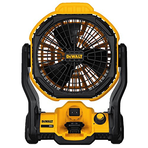 "DEWALT DCE511B 20V MAX 11"" Corded/Cordless Jobsite Fan (Tool Only)"