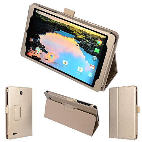 wisers Alcatel A30 Tablet 8 T-Mobile 8-inch Tablet Case/Cover, Gold