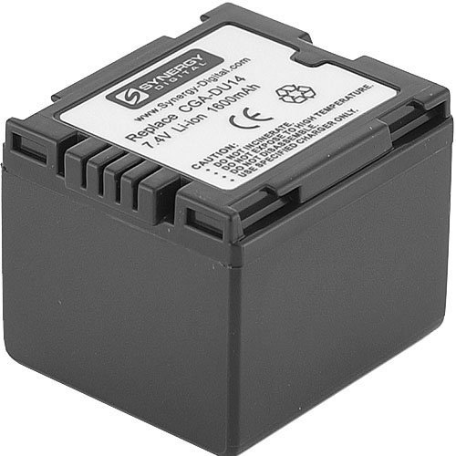 Hitachi DZ-HS300A Camcorder Battery Lithium-Ion (1600 mAh) - Replacement for Panasonic CGA-DU14U Battery by Synergy Digital