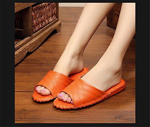 Femme Orange Women Tellw Chaussons Pour q0IIOxfE