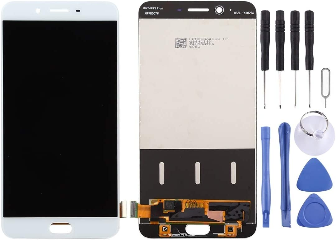Color : White Zhangfei Phone Replacement Parts LCD Screen and Digitizer Full Assembly for Oppo R9 Plus White