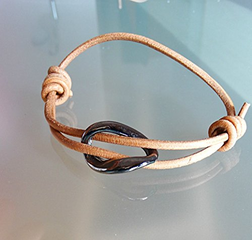 Lisbon Leather - Leather infinity bracelet resizable small medium large extra-large