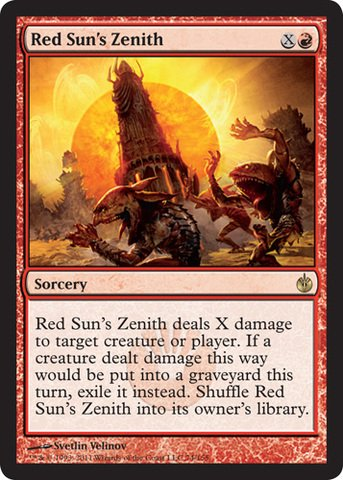 Magic The Gathering Red Sun's Zenith