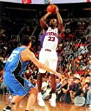 Former Golden State Warriors & Phoenix Suns JASON RICHARDSON autographed colored action shots 8x10 photograph & White Phoenix Suns Jeres unframed. The Golden State Warriors drafted Jason Richardson with the 5th overall pick in the 200...
