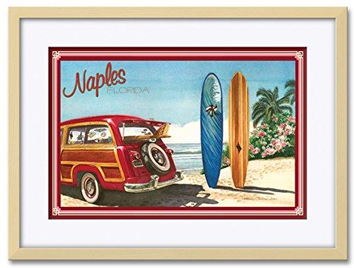 Northwest Art Mall Naples FL Professionally Framed & Matted Giclee Travel Art Print by Evelyn Jenkins Drew. Print Size: 12