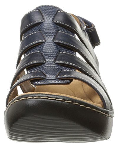 Delana Women's navy Maloren Clarks Dress Sandal leather FZqw5P