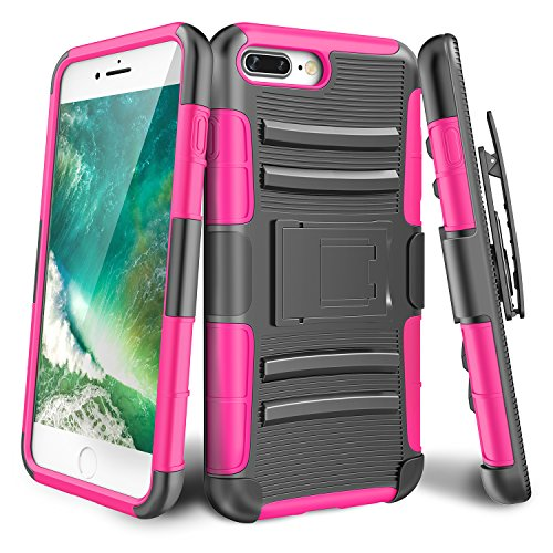 iPhone 7 Plus Case,TILL [Knight Armor] Heavy Duty Rugged Holster Resilient Armor Case [Belt Swivel Clip][Kickstand] Combo Cover Shell For Apple iPhone 7 Plus 5.5