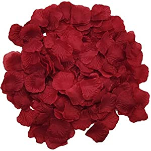 Wootkey 10 Pcs Plastic Artificial Flowers California Berries Rich Red Artificial Berry Stems Holly Christmas Berries for Festival Holiday and Home Decor (Rose Petal Wine red) 4