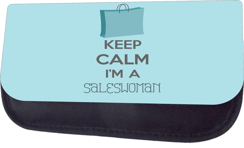 Pencil Case Set Keep Calm Im a Saleswoman School Messenger Bag