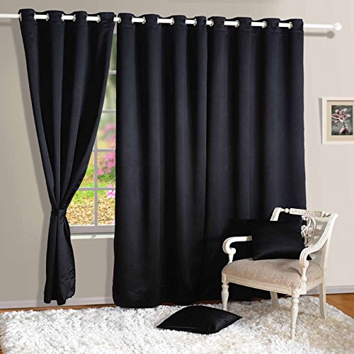 Yuga Eyelet Polyester Thermal Insulated Window Drapers Blackout Curtains